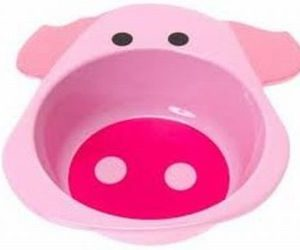 funny animals breakfast bowl pig