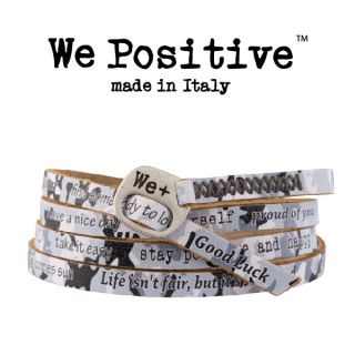we positive bracelet grey camouflage 209