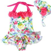 swimsuit with flowers girls