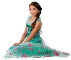 Frozen jurken Elsa en Anna en Peppa Big